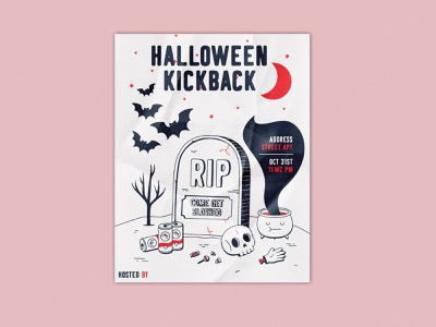 Halloween Invite design vector halloween party spooky illustration