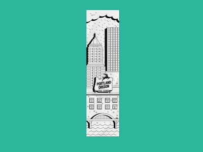Portland print city portland vector illustration