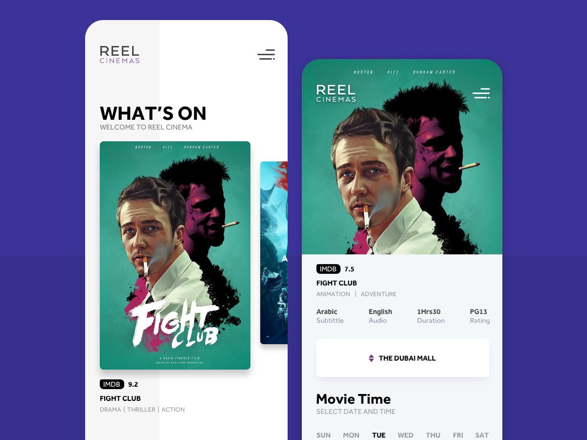 Cinema More Details view app concept ui ux sketch