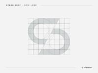 Degon Shop - Grid monogram gradient branding concept space typogaphy smart logo grid design grid grid logo branding design brand design brand