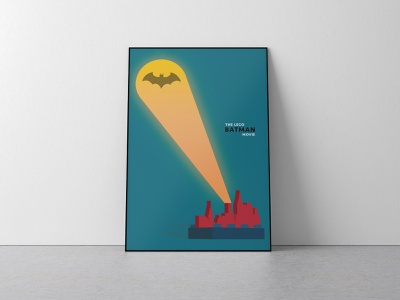 The Lego Batman Movie graphic  design poster challenge poster art flat vector typography design illustration