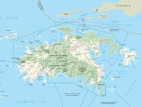 Virgin Islands NP Map