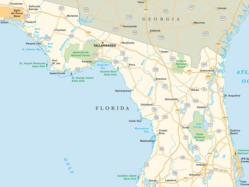 Florida Map cartography maps