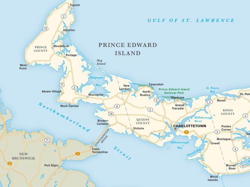 Prince Edward Island Map cartography maps