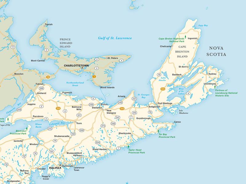 Nova Scotia Map cartography maps
