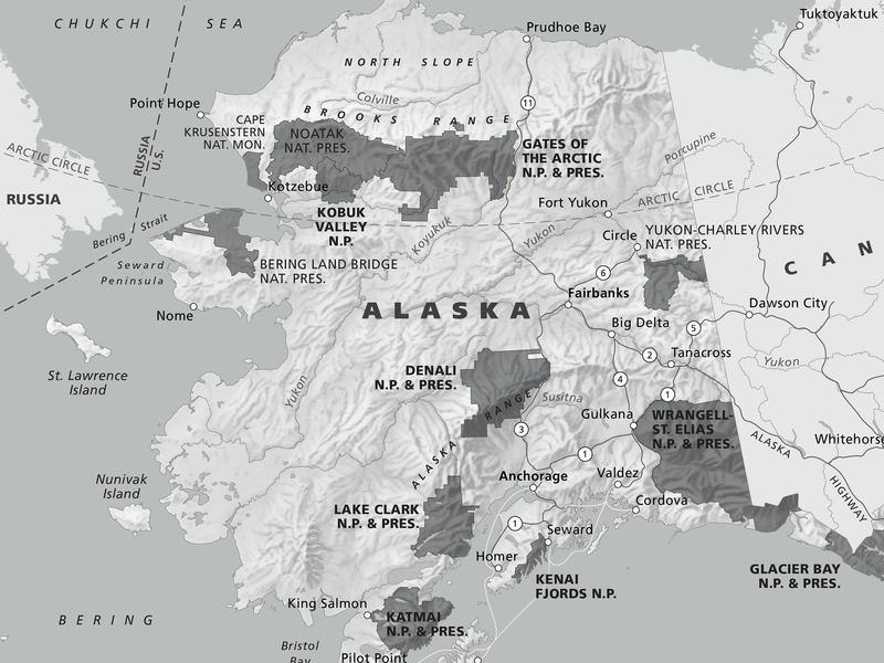 Alaska Parks Map cartography maps
