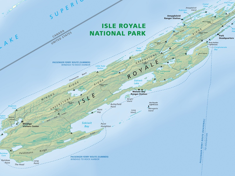 Isle Royale Map cartography maps