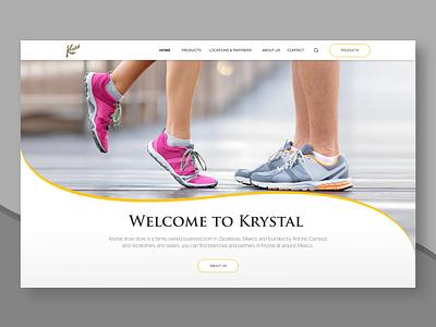 Krystal ux designer ui designer shoe store shoes mexico mexicanbrand mexicano website design uxui uxdesigner uxdesign ux uidesigns ui responsive website homepagedesign design ui design ecommerce design ecommerce