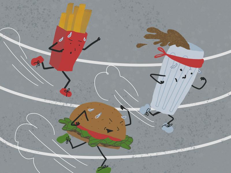 Fast Food food illustration procreate fries coke hamburger fast food