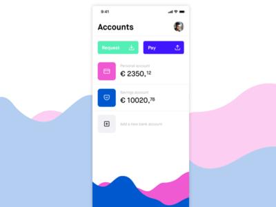 Wallet Overview App Screen