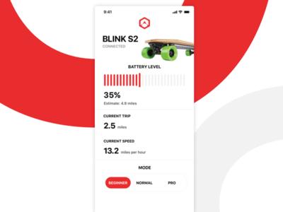 Electric Skateboarding App - Dashboard