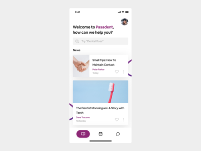 Article screen overview app