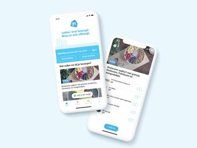 Supermarket delivery app concept