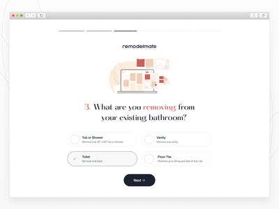 remodelmate — onboarding select renovating remodel checkbox form signup onboarding