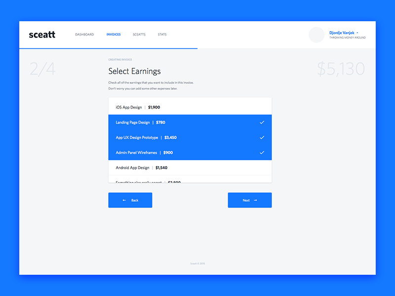 Sceatt Invoicing Process invoice money blue
