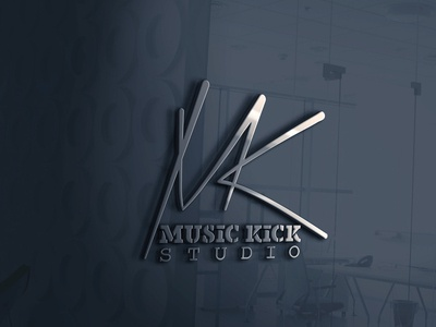 MUSIC KICK STUDIO LOGO.