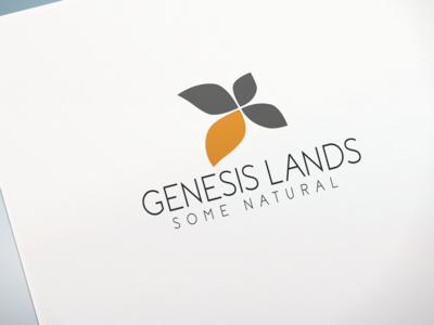 Genesis Lands Logo Design.