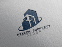 """PIXEOR PROPERTY GROUP"" Real Estate Logo."