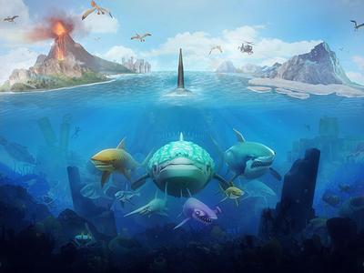 Hungry Shark World - Concept Art