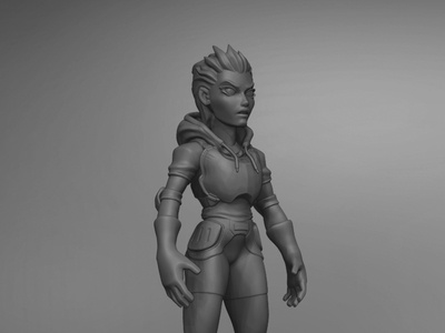Sculpt 01 zbrush stylized art sculpting scifi render modeling character design character cartoon 3d