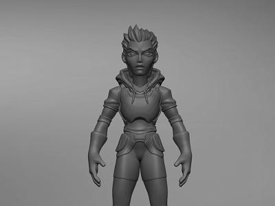 Sculpt 02 art sculpting scifi render modeling zbrush stylized character design character cartoon 3d