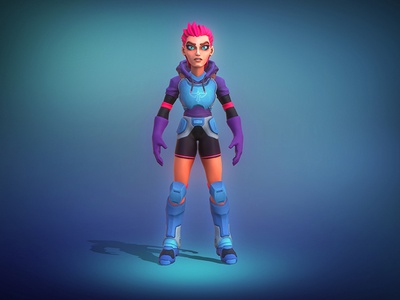 Space Girl zbrush stylized sculpt scifi render modelling character design character cartoon art 3d