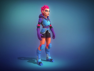 Space Girl zbrush stylized sculpt space render modelling character design cartoon art 3d