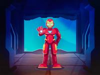 Iron Man character design marvel vector illustration graphic design flat endgame character cartoon ironman avengers art