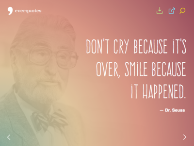 Everquotes quotes gradient css3 carousel responsive author typography wallpaper