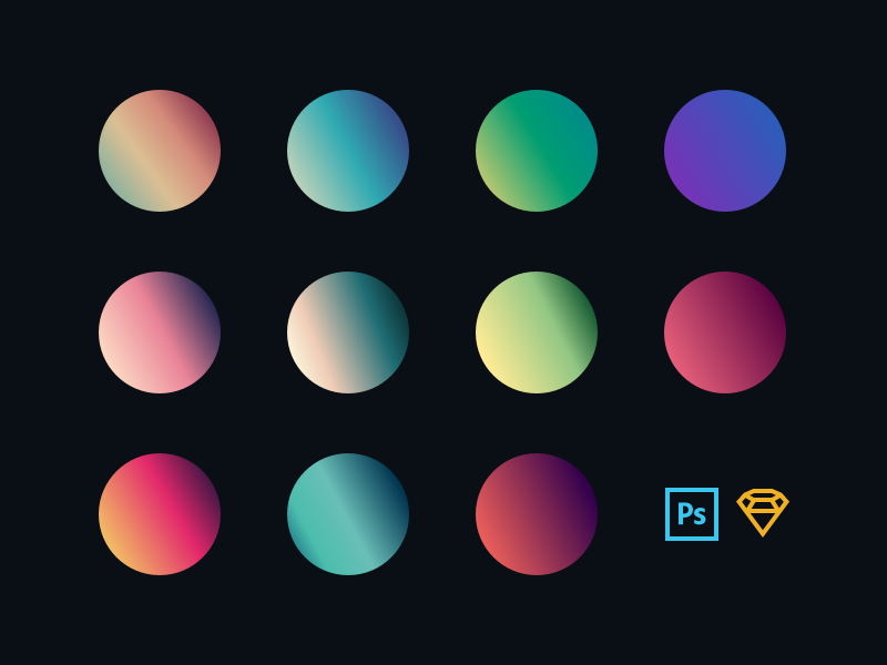 Dribbble everquotes gradients