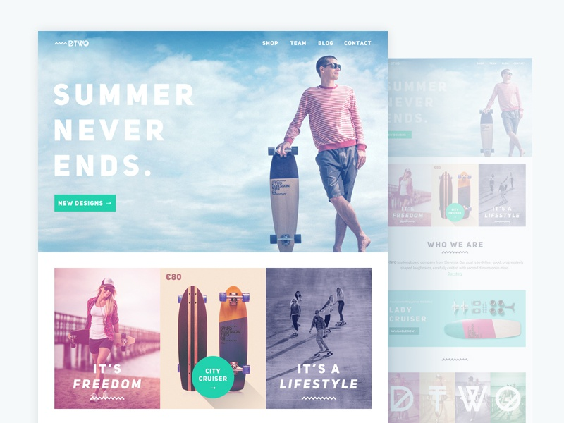 Dtwo website redesign dribbble