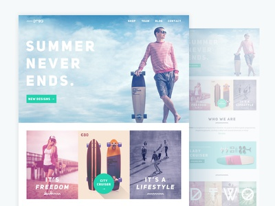 Dimension TWO Website Redesign homepage landing creative redesign template concept website webdesign sketch psd download freebie