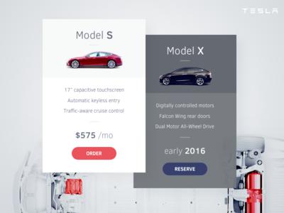 Pricing Table Tesla