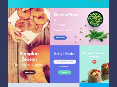 Food Magazine Template freebie magazine flat grid bootstrap template concept website interface sketch psd download