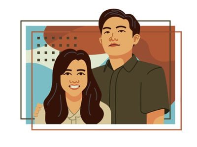 indonesian couple photoshop flatillustration flatdesign girlfriend lover lovely couplegoals couple