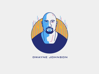 THE ROCK movie dwaynejohnson logodesigner logo logodesign logos flat illustration flat illustrator flatdesign