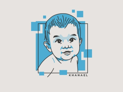 Baby Khanael flat illustration flatdesign baby care