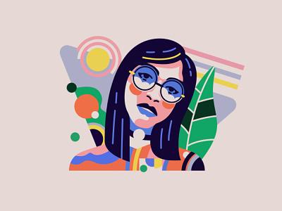 girl logo art cute art girl illustration illustraion illustrator girl character girl