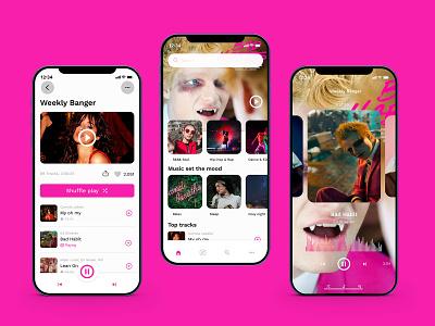 Music app interfaces musicapp uxdesign uidesign