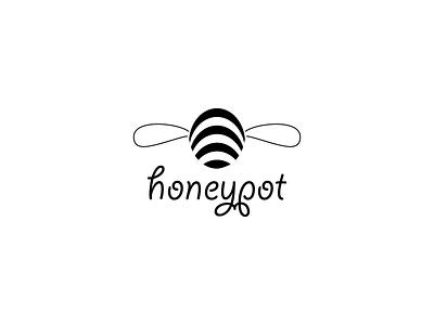 Honey Pot honey food branding logotype logo