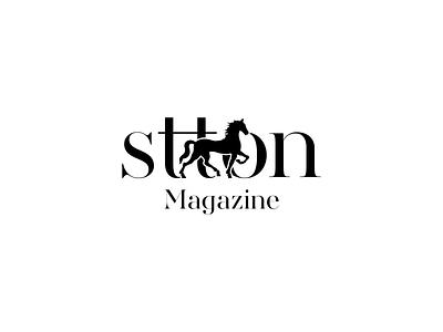 Stton magazine luxury real estate horse lettermark logotype logo branding
