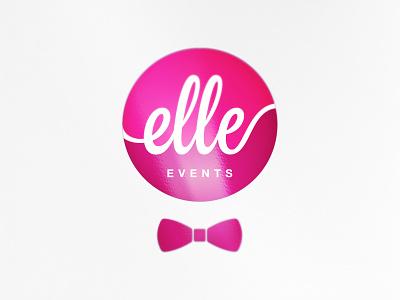 Elle Events event brand elle events logotype logo branding