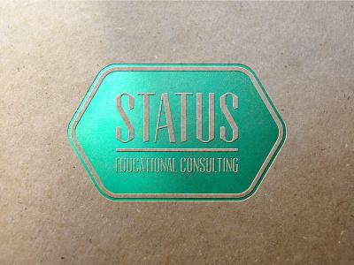 Status consulting education minimalist logo lettermark logotype logo branding