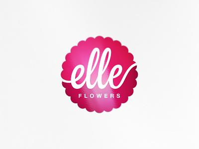 Elle Flowers flowers elle brand logotype logo branding
