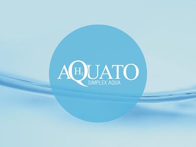 Aquato brand water minimalist logo product logo lettermark logotype logo branding