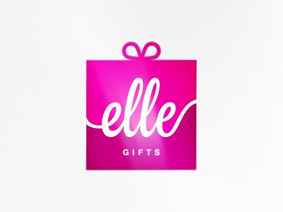 elle gifts dribbble product logo gifts elle brand logotype logo branding