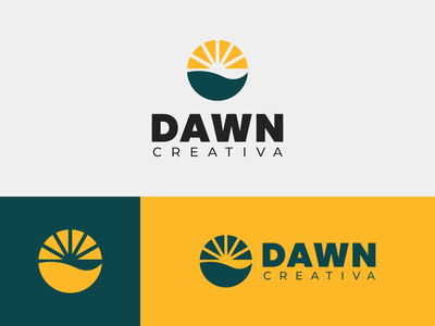 Dawn Creativa Logo Design branding graphic design minimalism logo design simple minimal logo concept dawn logo dawn logo design