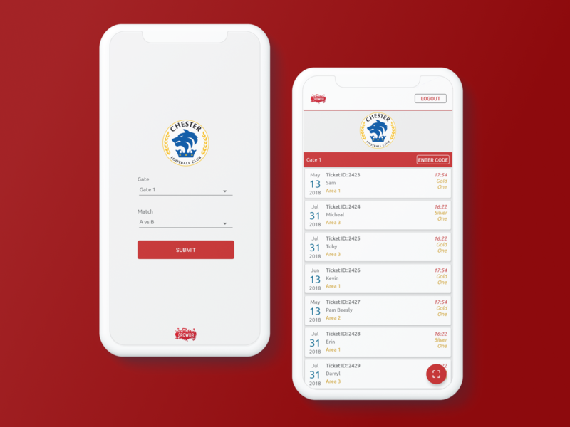 Crowdr Mobile App Design