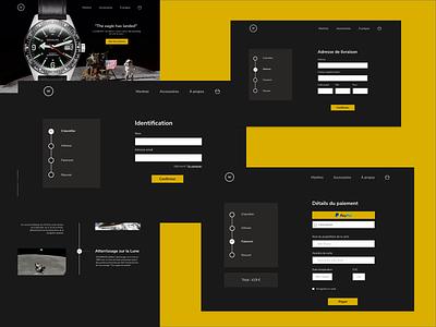 Checkout - Wolbrook black yellow kickstarter watch ux ui checkout