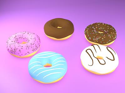 3D Donuts donuts c4d 3d